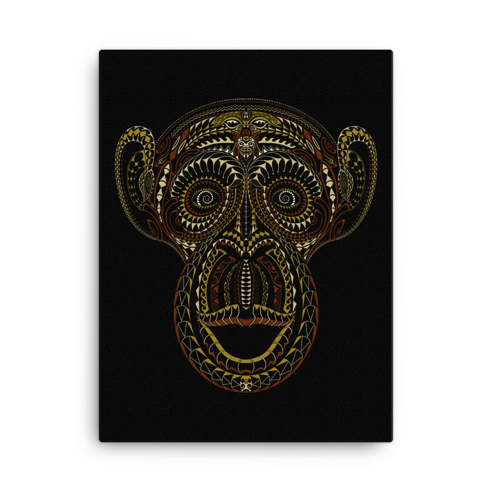Tā Moko Monkey (Canvas)
